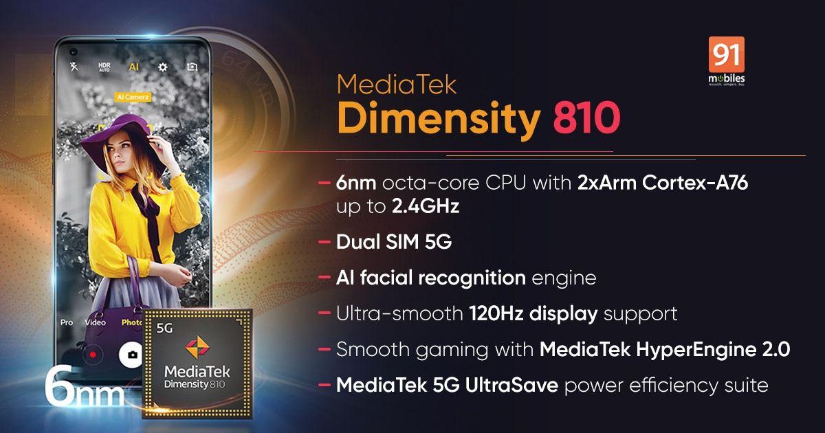 Mediatek Dimensity 810  MT6833V Specification