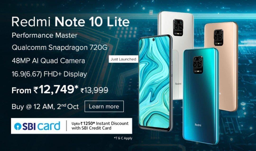 Redmi Note 10 Lite Specifications